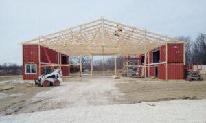 post frame construction galva