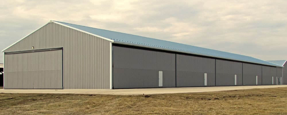 airplane hangar pole building iowa