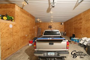 Large Attached Garage Pole Barn