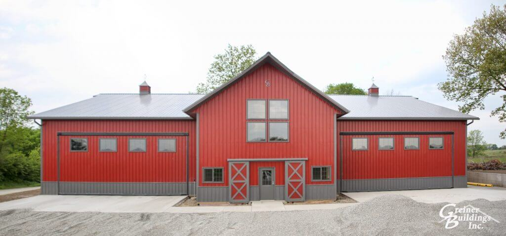 Columbus Junction Machine Shed Lined and Insulated Shop Red and Smoke color
