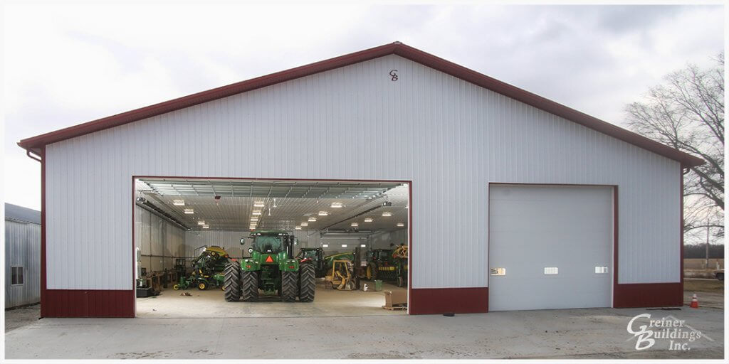 Post Frame Pole Barn with overhead doors