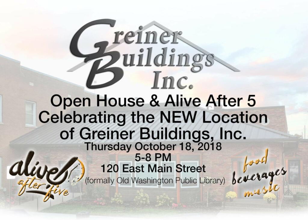 greiner buildings open house october 18, 2018 5-8pm