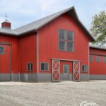 Pole Barn Red and Brown with Living Quarters
